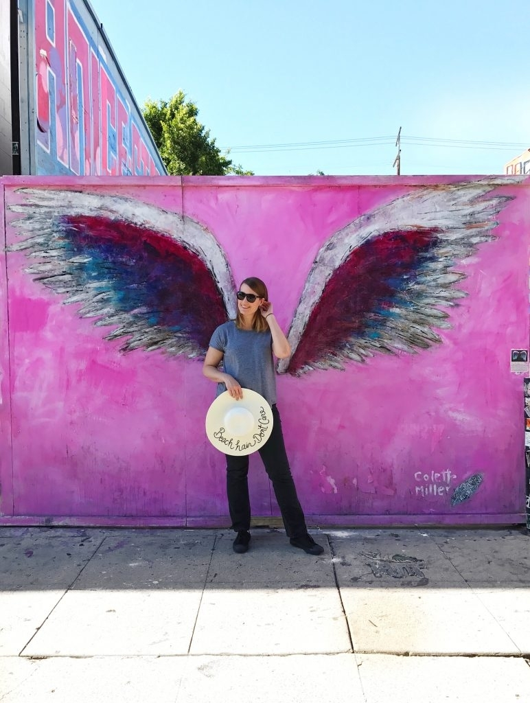 Melrose Ave Wall Walkabout: La's Best Instagram Walls | The Laura in Instagram Wall Art (Image 16 of 20)