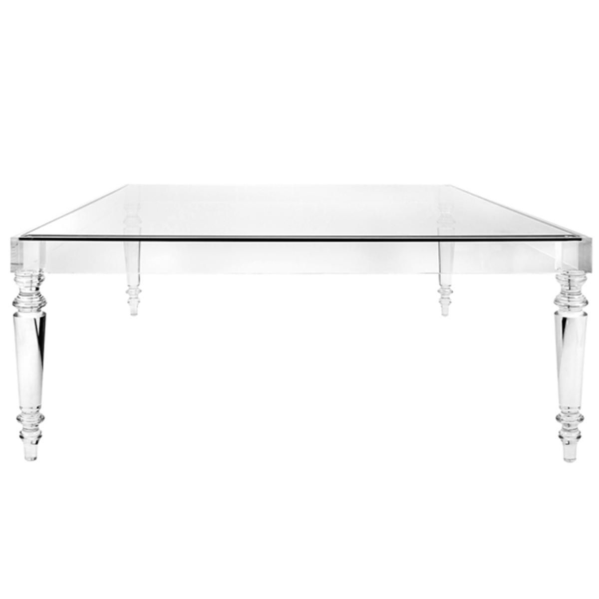 Melrose Modern Acrylic Coffee Table | House | Goals | Pinterest throughout Modern Acrylic Coffee Tables (Image 21 of 30)