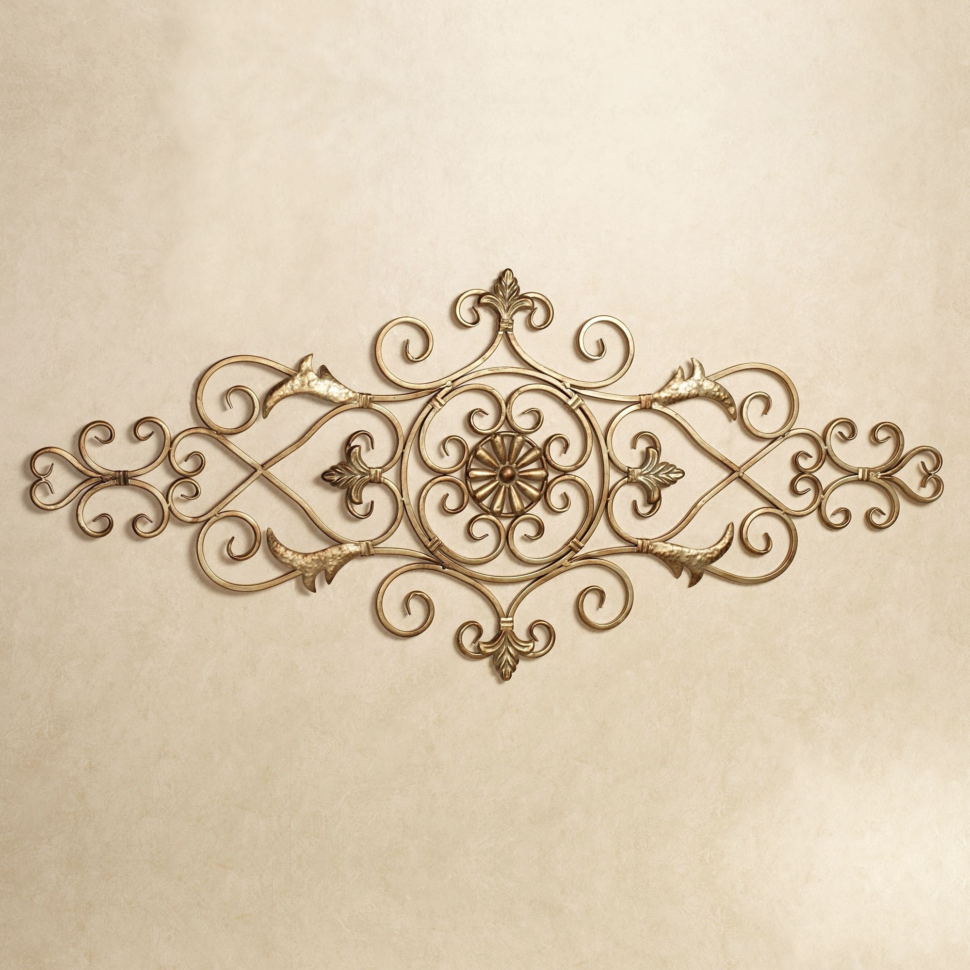 Merano Scrolling Metal Wall Grille intended for Metal Scroll Wall Art (Image 9 of 20)