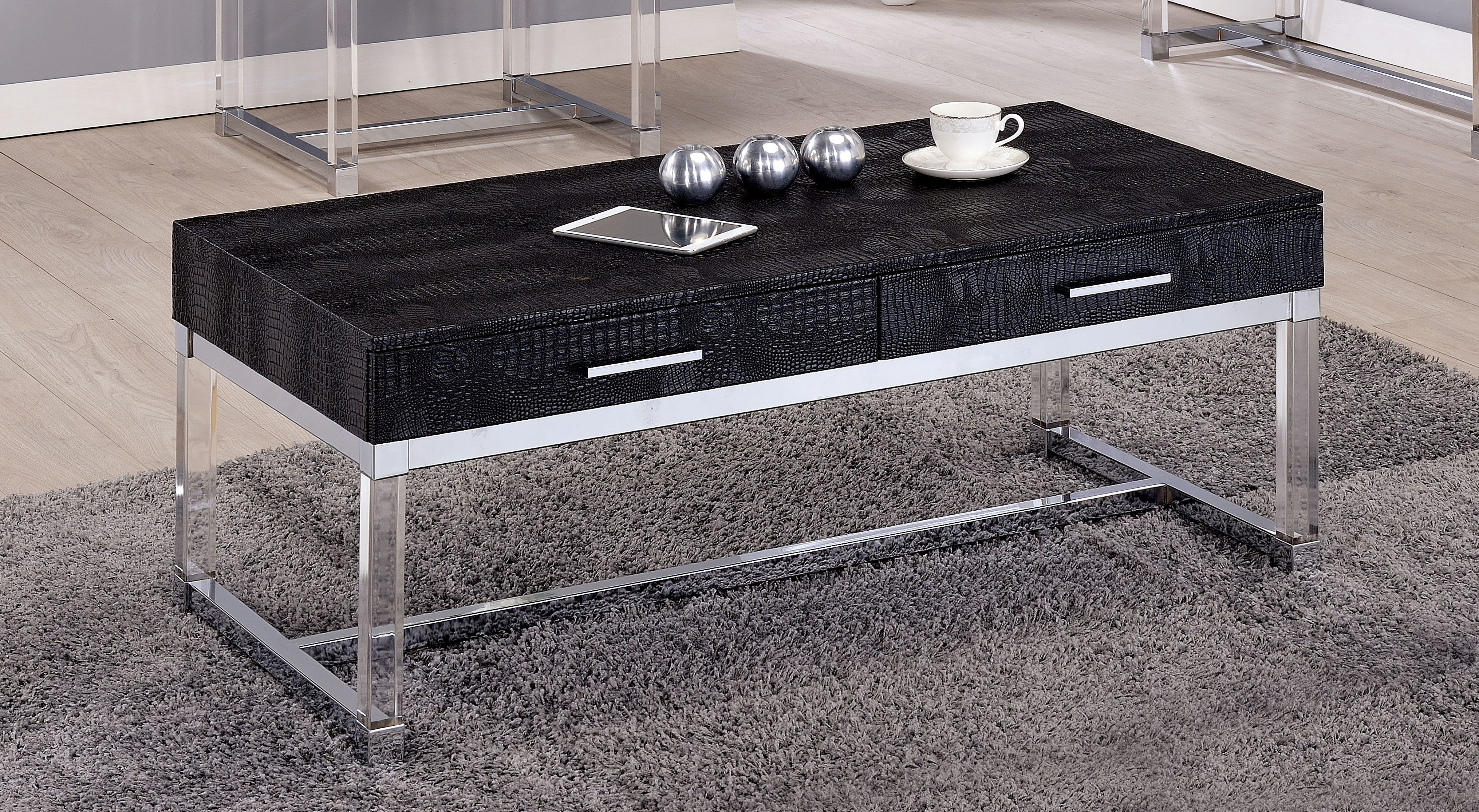 Mercer41 Maxwell Coffee Table | Wayfair for 2 Tone Grey And White Marble Coffee Tables (Image 20 of 30)