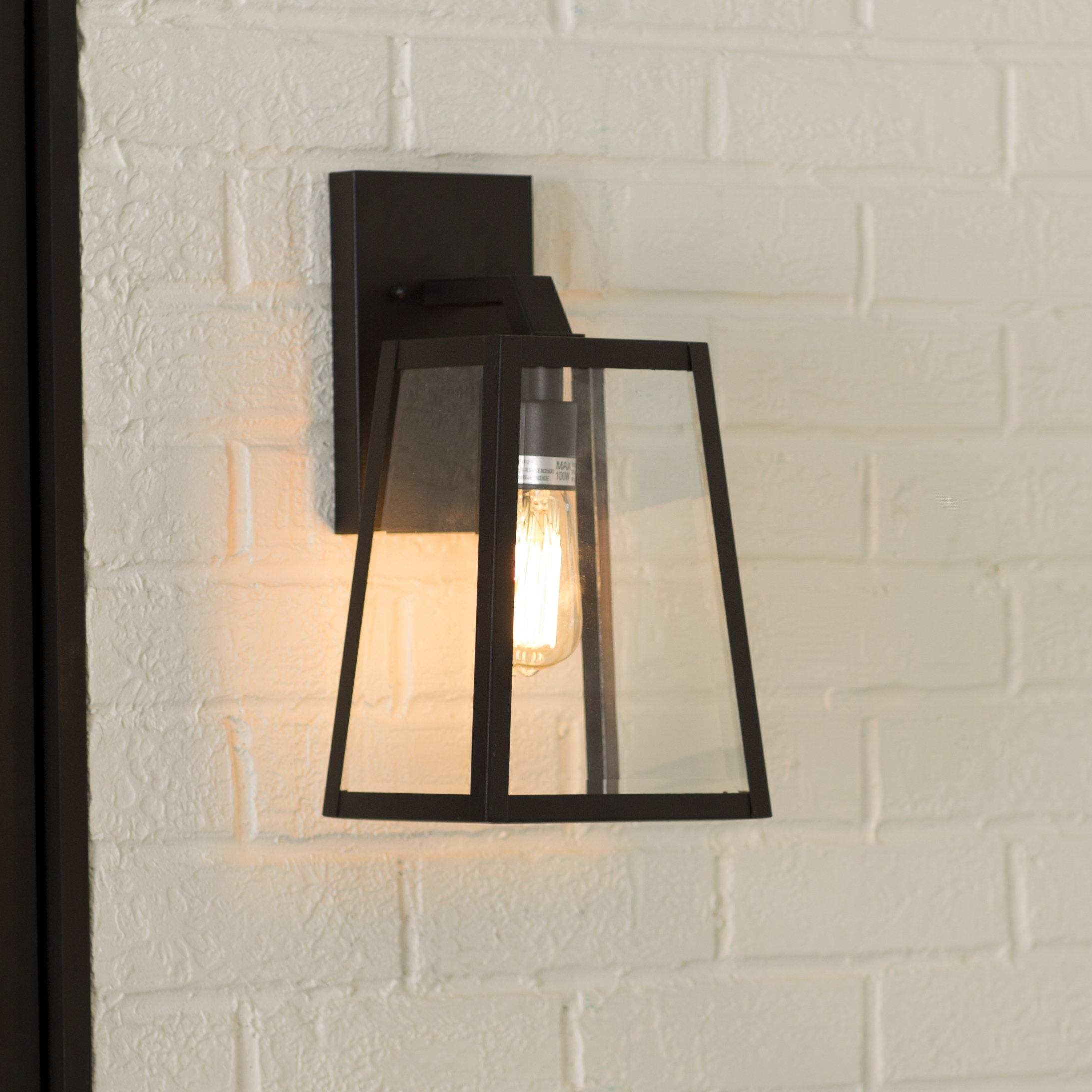 Mercury Row Brill Outdoor Wall Lantern & Reviews | Wayfair With Regard To Outdoor Garage Lanterns (View 12 of 20)