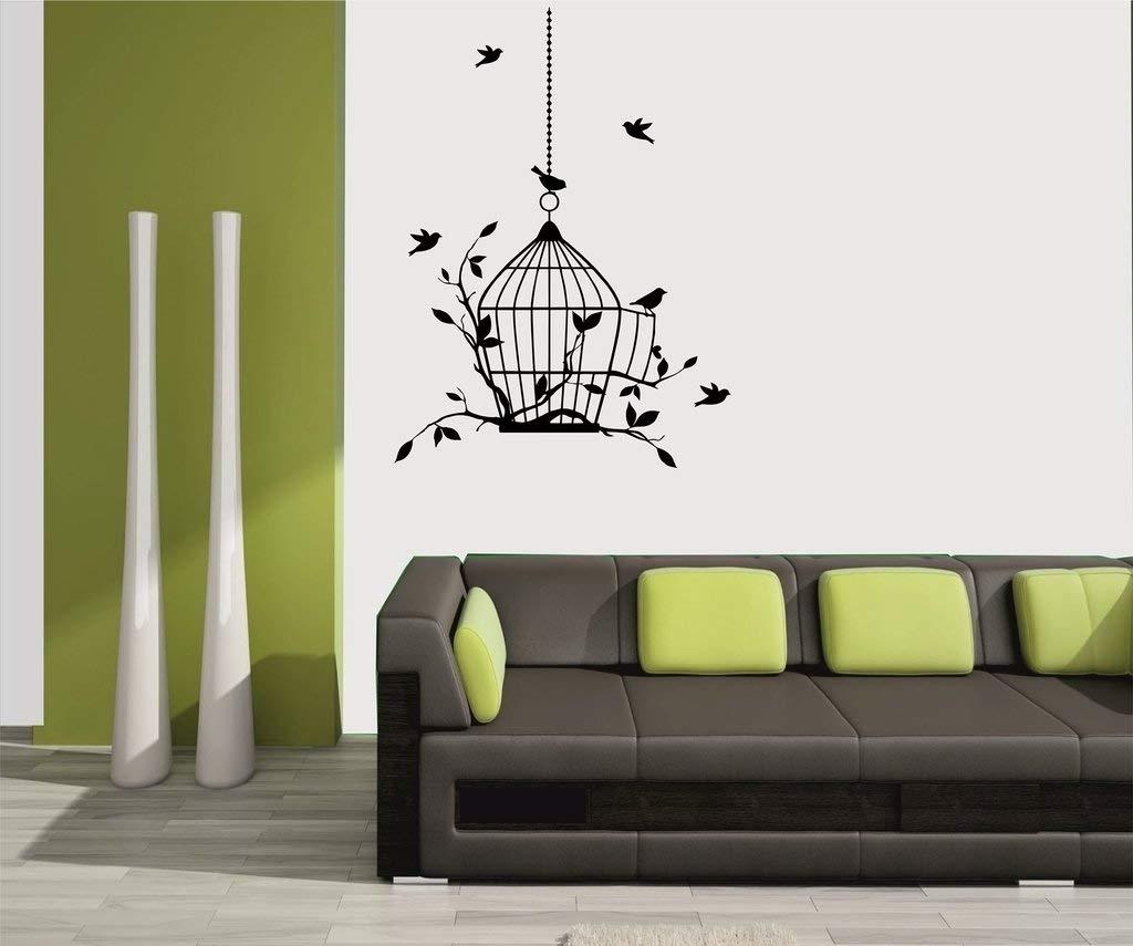 Mesleep 'birds Design' Wall Sticker (Vinyl, 34 Cm X 5 Cm X 5 Cm inside Black Wall Art (Image 11 of 20)