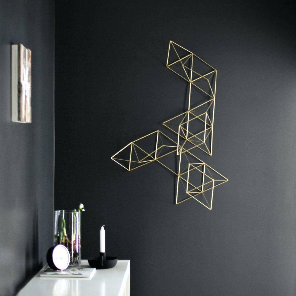 Metal Abstract Wall Art Wall Arts ~ 3D Geometric Metal Wall Art Intended For Geometric Metal Wall Art (View 12 of 20)