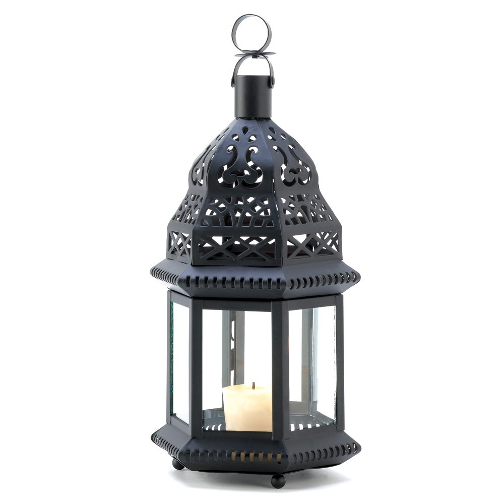 Metal Candle Lantern, Moroccan Outdoor Patio Candle Lanterns Metal within Outdoor Candle Lanterns For Patio (Image 14 of 20)