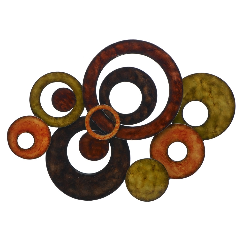 Metal Circle Wall Circular Wall Decor Perfect Decorative Wall Clocks Pertaining To Circle Wall Art (View 17 of 20)