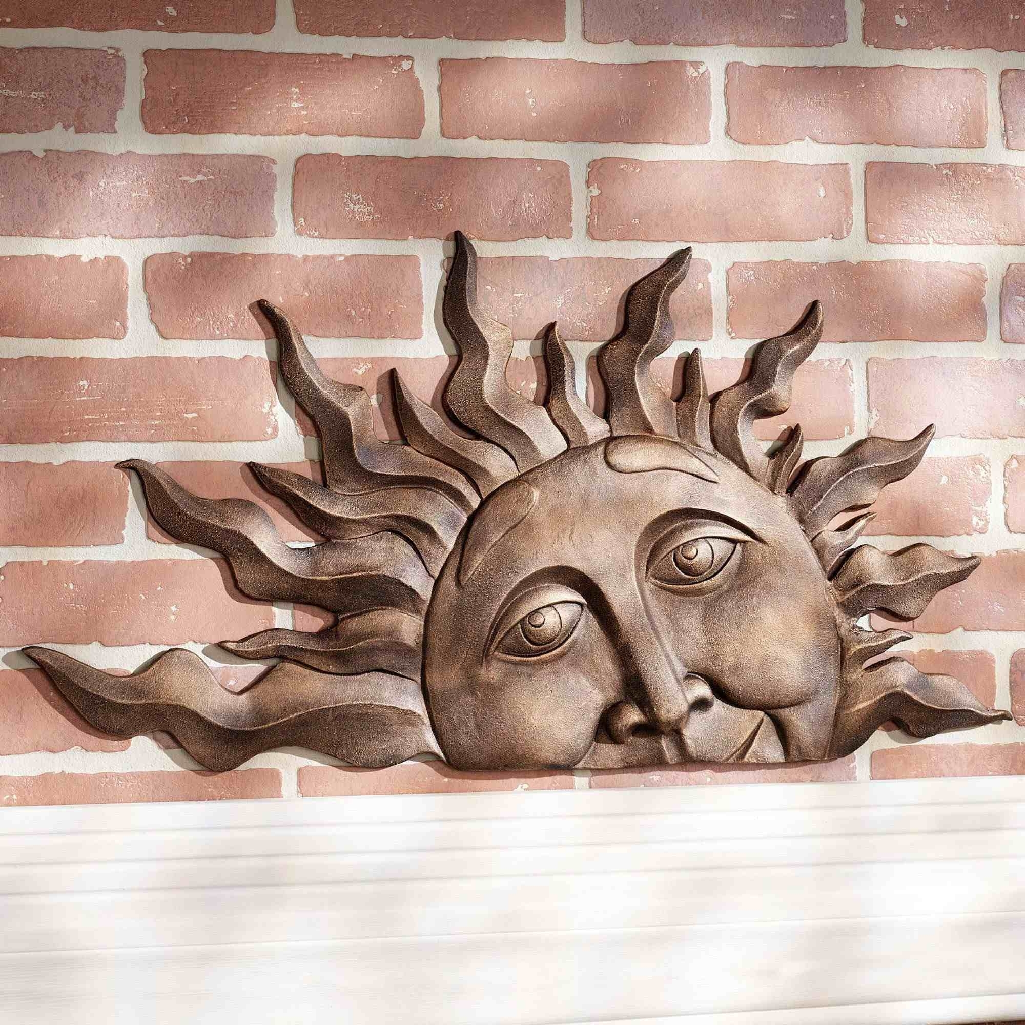Metal Garden Wall Plaques Inspiration Of Large Outdoor Sun Wall Art with Outdoor Sun Wall Art (Image 7 of 20)