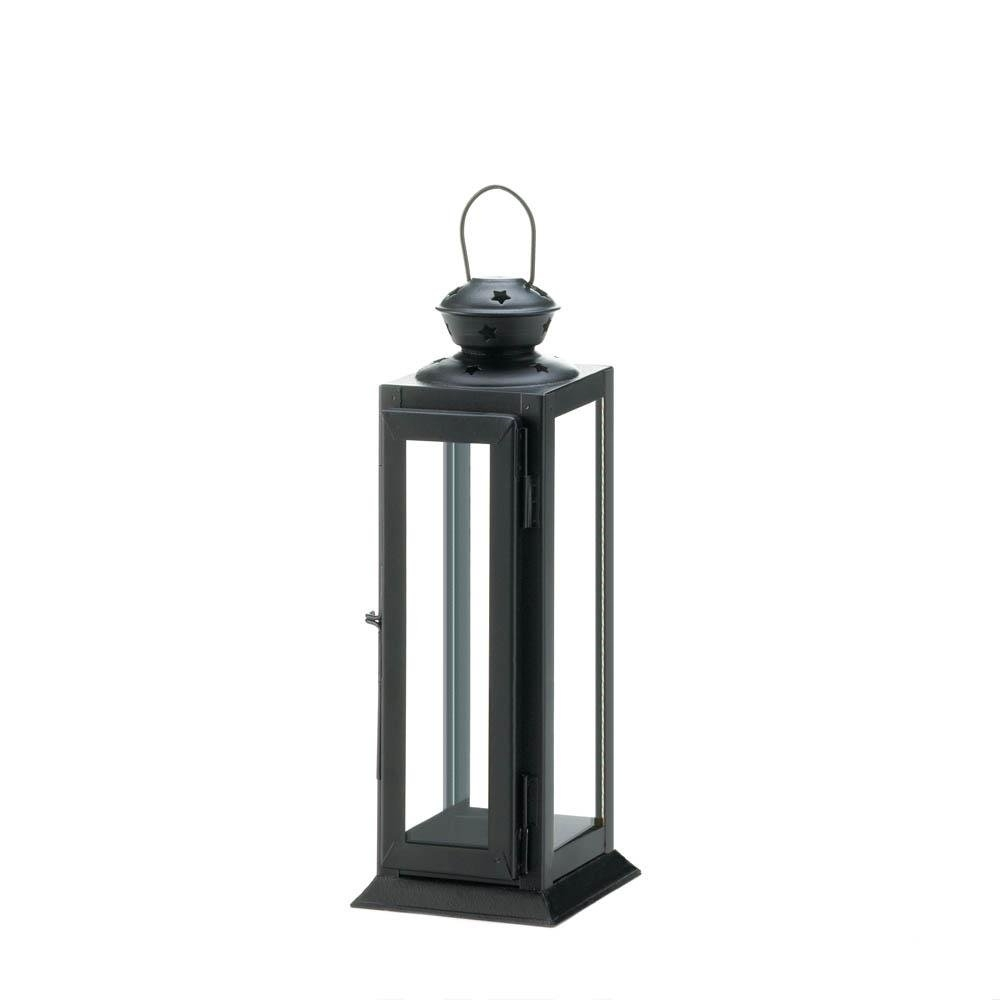 Metal Lantern Candle Holder, Decorative Black Candle Holder Lantern within Outdoor Metal Lanterns for Candles (Image 13 of 20)