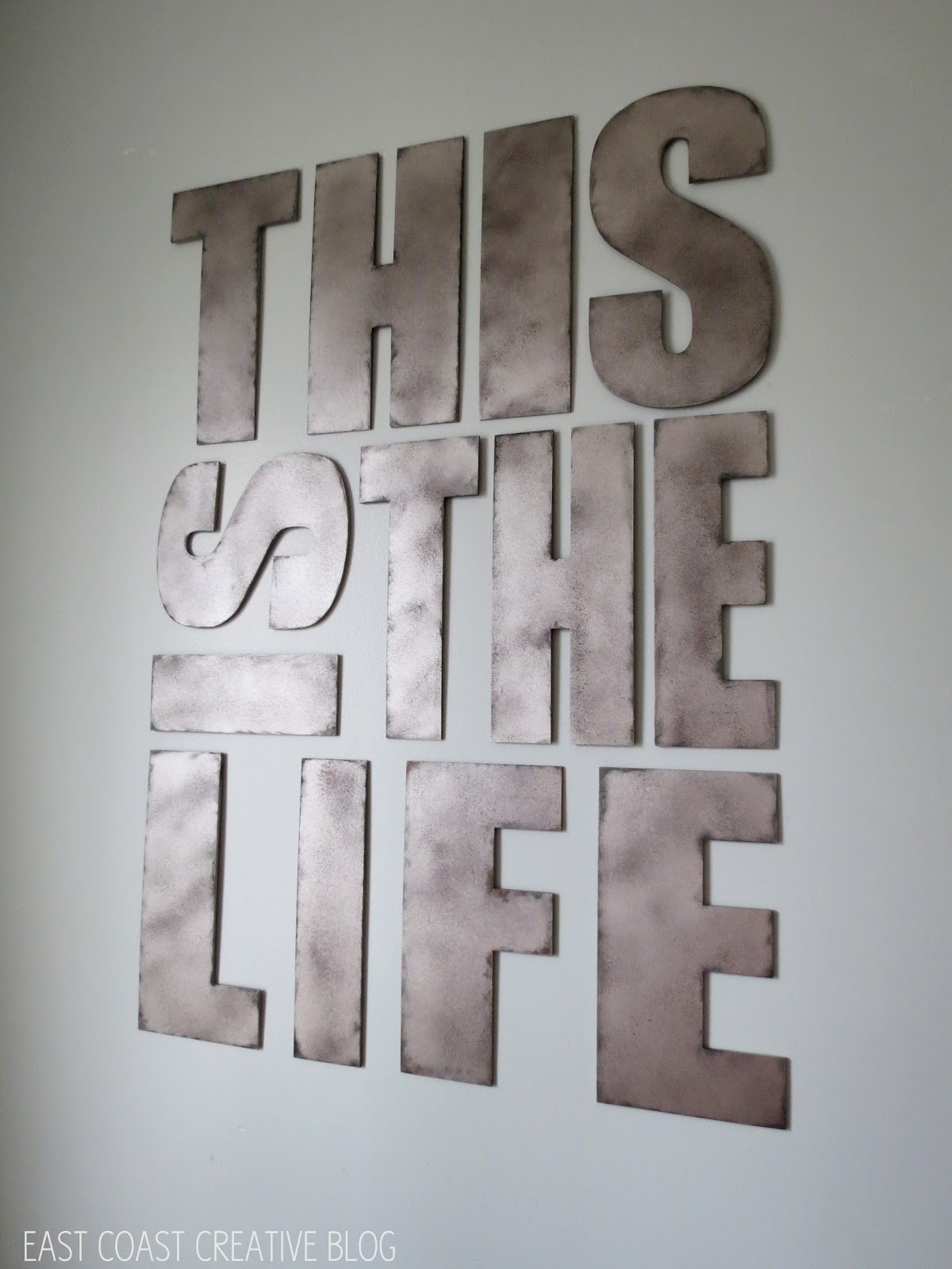 Metal Letter Wall Art - Elitflat for Metal Letter Wall Art (Image 14 of 20)