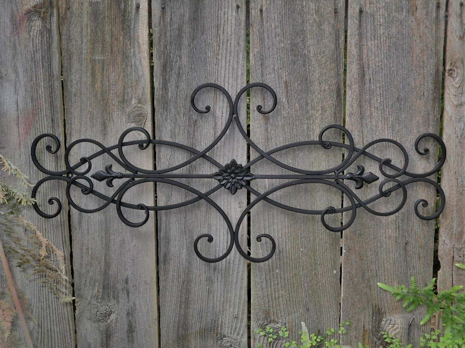 Metal Outdoor Wall Decor Elegant Good Outdoor Wall Art Wrought Iron With Regard To Metal Outdoor Wall Art (View 8 of 20)