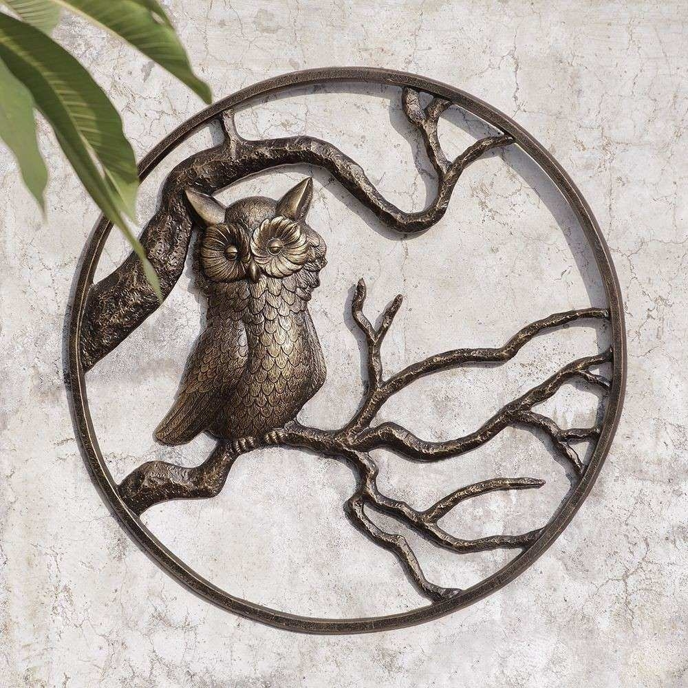 Metal Outdoor Wall Decor Fresh Owl Garden Wall Art Hanging Decor Pertaining To Metal Outdoor Wall Art (View 19 of 20)