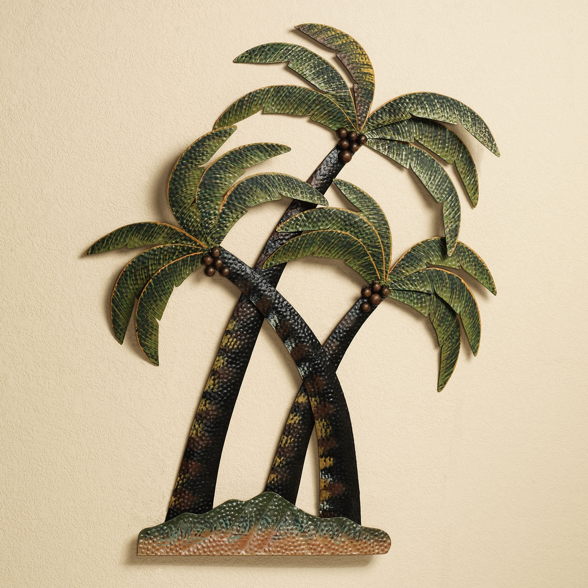 Metal Palm Leaf Wall Decor Lovely Palm Tree Wall Art Metal Sculpture regarding Palm Tree Wall Art (Image 7 of 20)