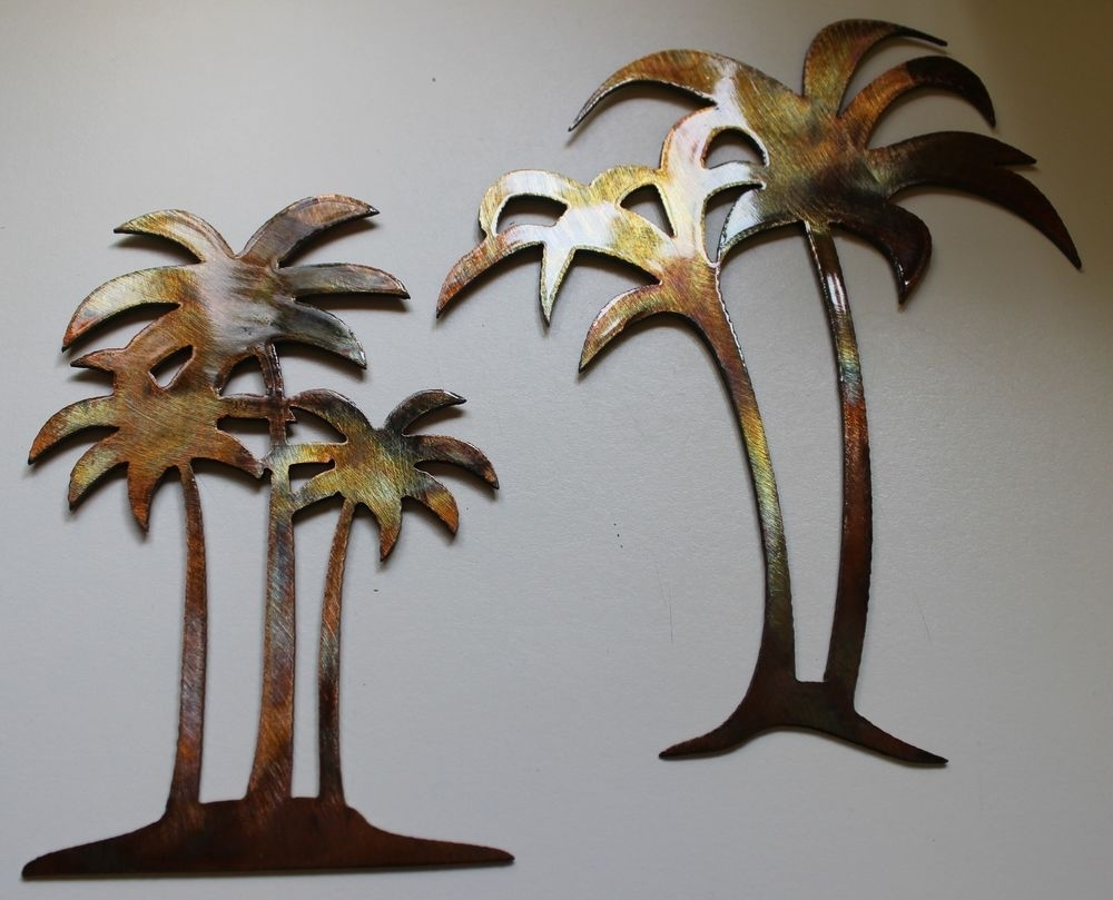 Metal Palm Tree Wall Art : Andrews Living Arts - The Charm Of Palm intended for Palm Tree Wall Art (Image 8 of 20)