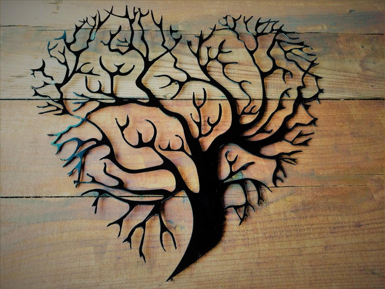 Metal Tree Of Life, Metal Tree, Tree Wall Art, Tree Wall Decor, Tree with Metal Tree Wall Art (Image 8 of 21)