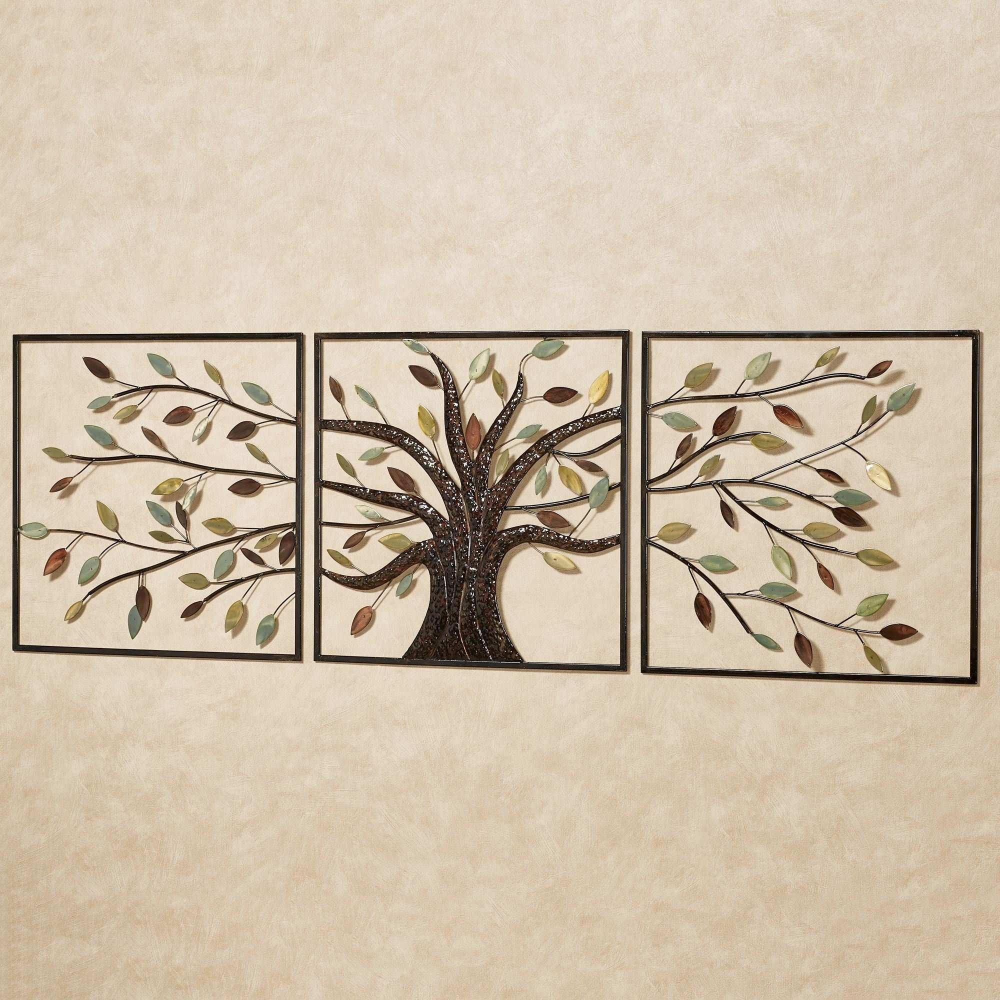 Metal Tree Wall Art Luxury Ever Changing Brown Tree Metal Wall Art regarding Metal Tree Wall Art (Image 10 of 21)