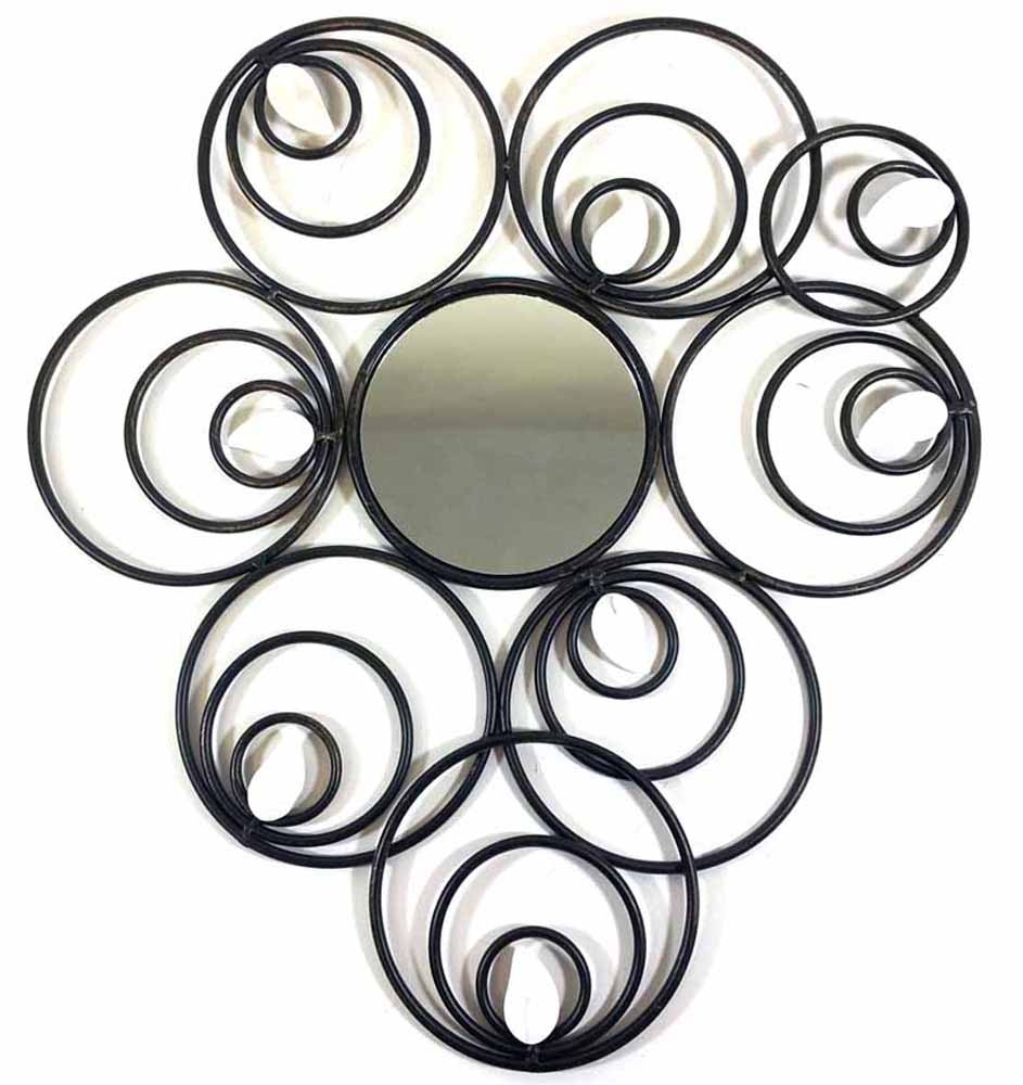 Metal Wall Art – Abstract Circle Disc Mirror Pertaining To Circle Wall Art (View 18 of 20)