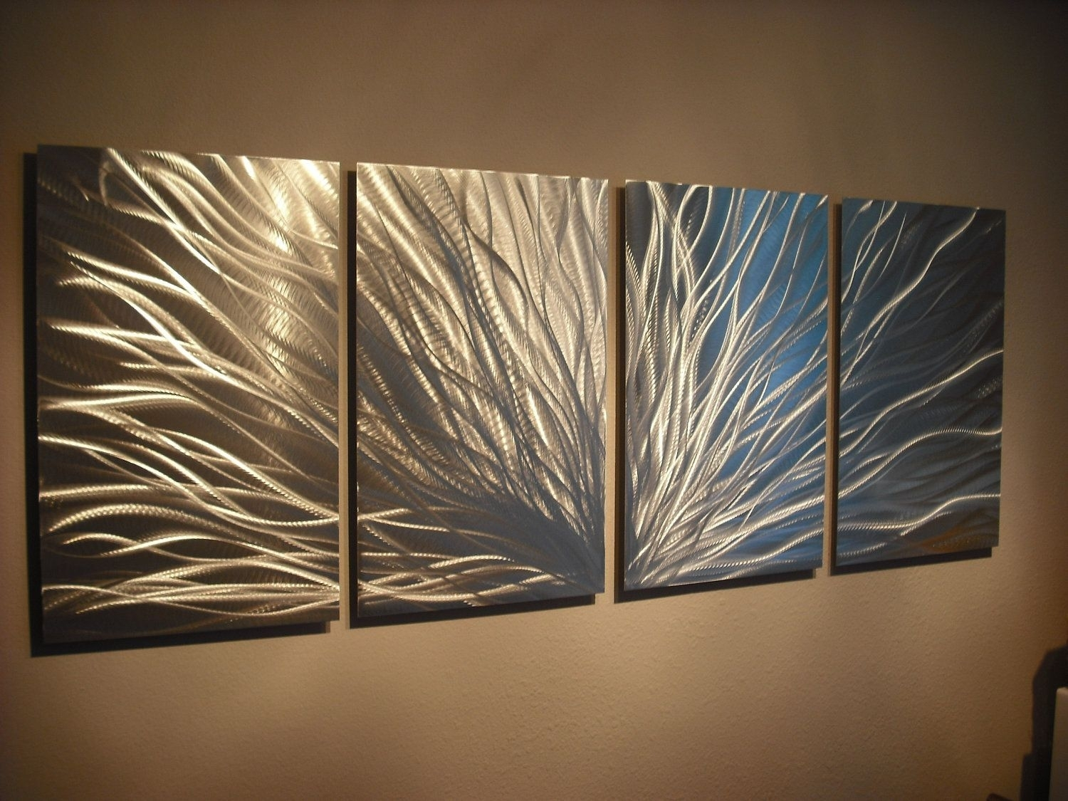 Metal Wall Art Decor Abstract Aluminum Contemporary Modern Sculpture in Contemporary Wall Art Decors (Image 8 of 20)