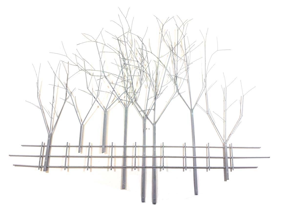 Metal Wall Art Large Grey Winter#039;s Day Tree Scene, Large Metal intended for Metal Wall Art Trees (Image 10 of 20)