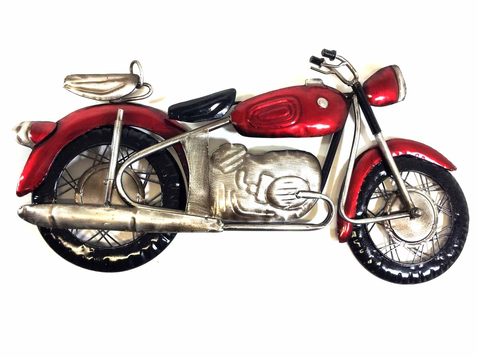 Metal Wall Art - Red Motorcycle intended for Motorcycle Wall Art (Image 10 of 20)