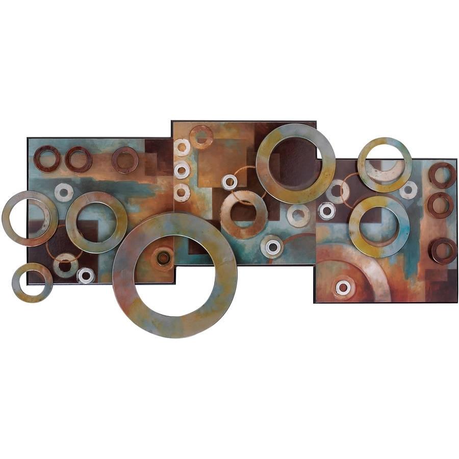Metal Wood Wall Decor For Long Lasting Decor Walmartcom, Long Wall in Vertical Metal Wall Art (Image 7 of 20)