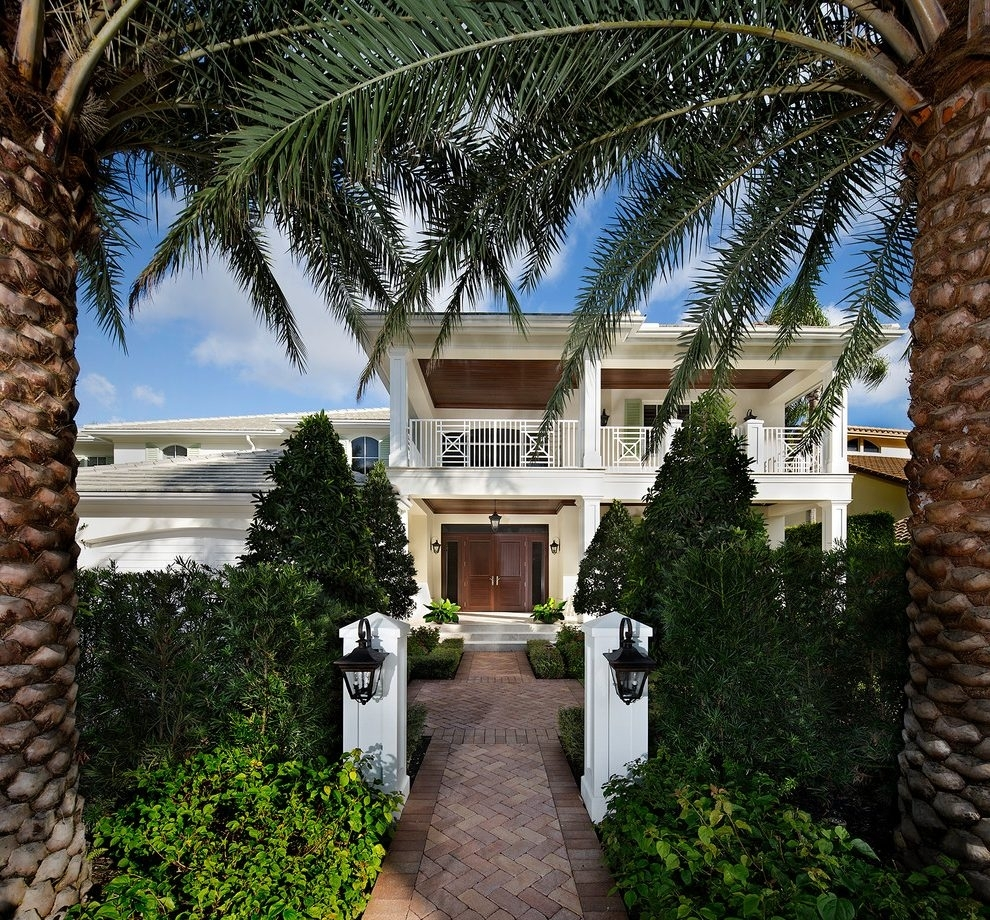 Miami Front Porch Entrances Exterior Tropical With Double Doors with Outdoor Tropical Lanterns (Image 9 of 20)