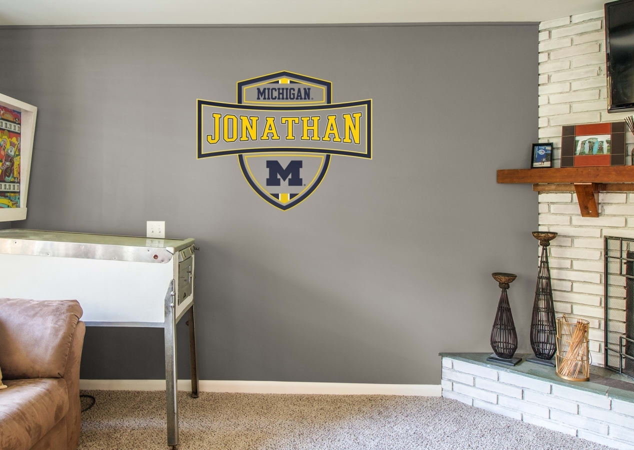 Michigan Wolverines: Personalized Name - Giant Officially Licensed intended for Michigan Wall Art (Image 13 of 20)