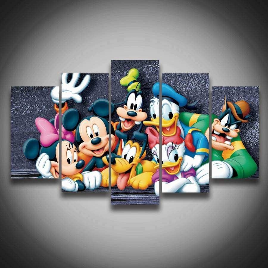Mickey Mouse Canvas Wall Art Awesome Popular Mickey Mouse Canvas Buy pertaining to Mickey Mouse Canvas Wall Art (Image 15 of 20)