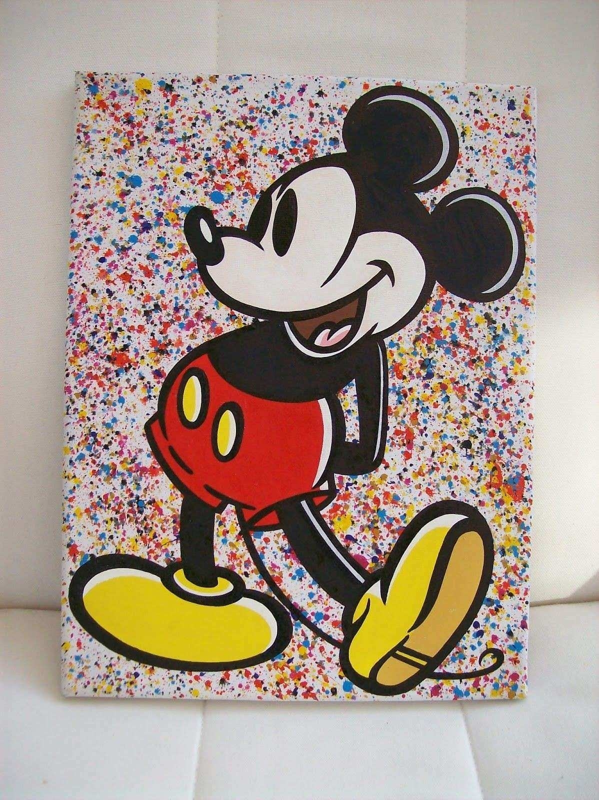 Mickey Mouse Canvas Wall Art Luxury Mickey Mouse Acrylic Paintings intended for Mickey Mouse Canvas Wall Art (Image 17 of 20)