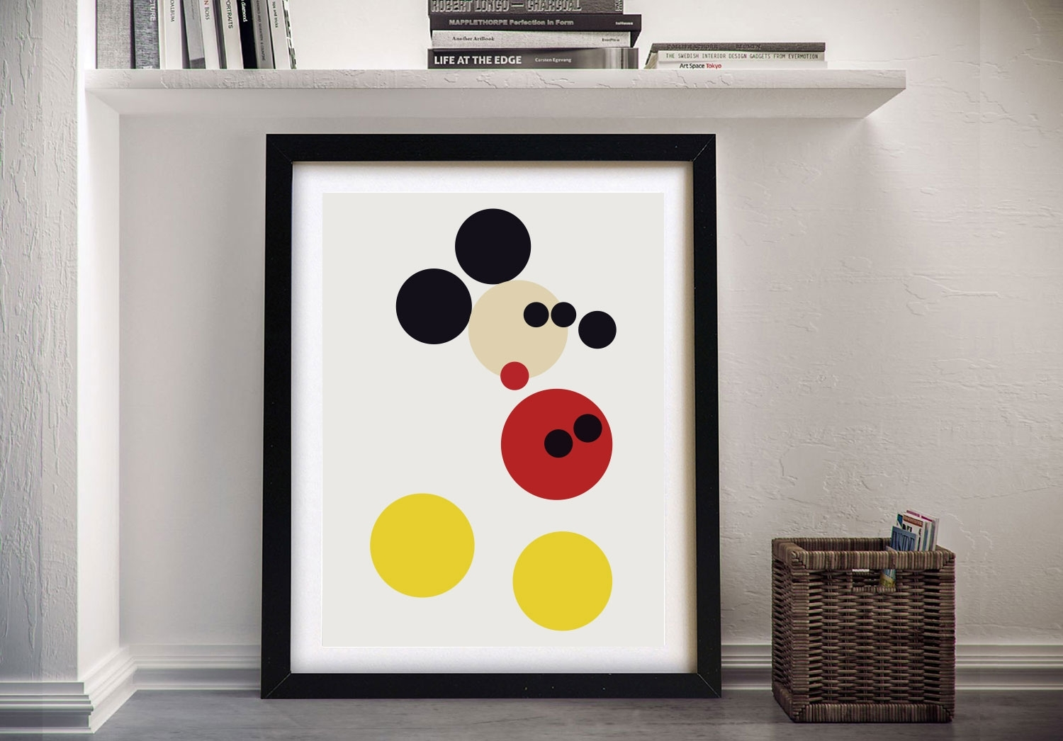 Mickey Mousedamien Hirst Pop Art Canvas Print Australia intended for Mickey Mouse Canvas Wall Art (Image 20 of 20)
