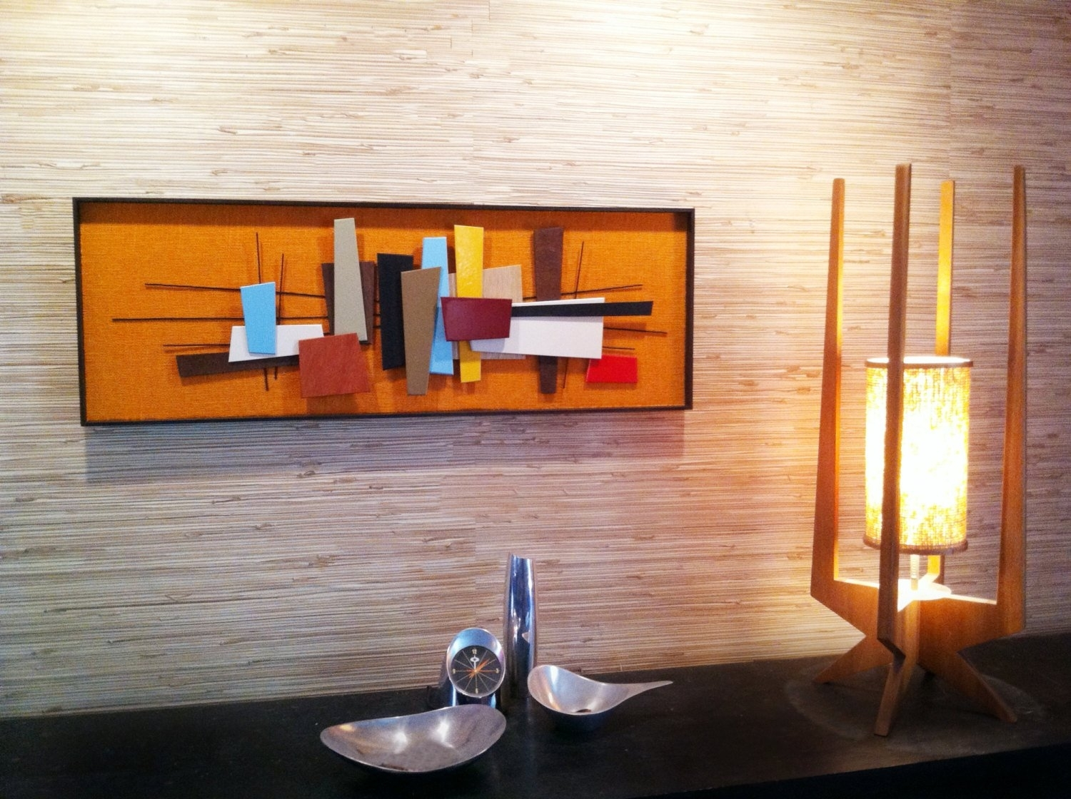 Mid Century Modern Abstract Wall Art Sculpture Painting Retro, Mid inside Mid Century Modern Wall Art (Image 11 of 20)