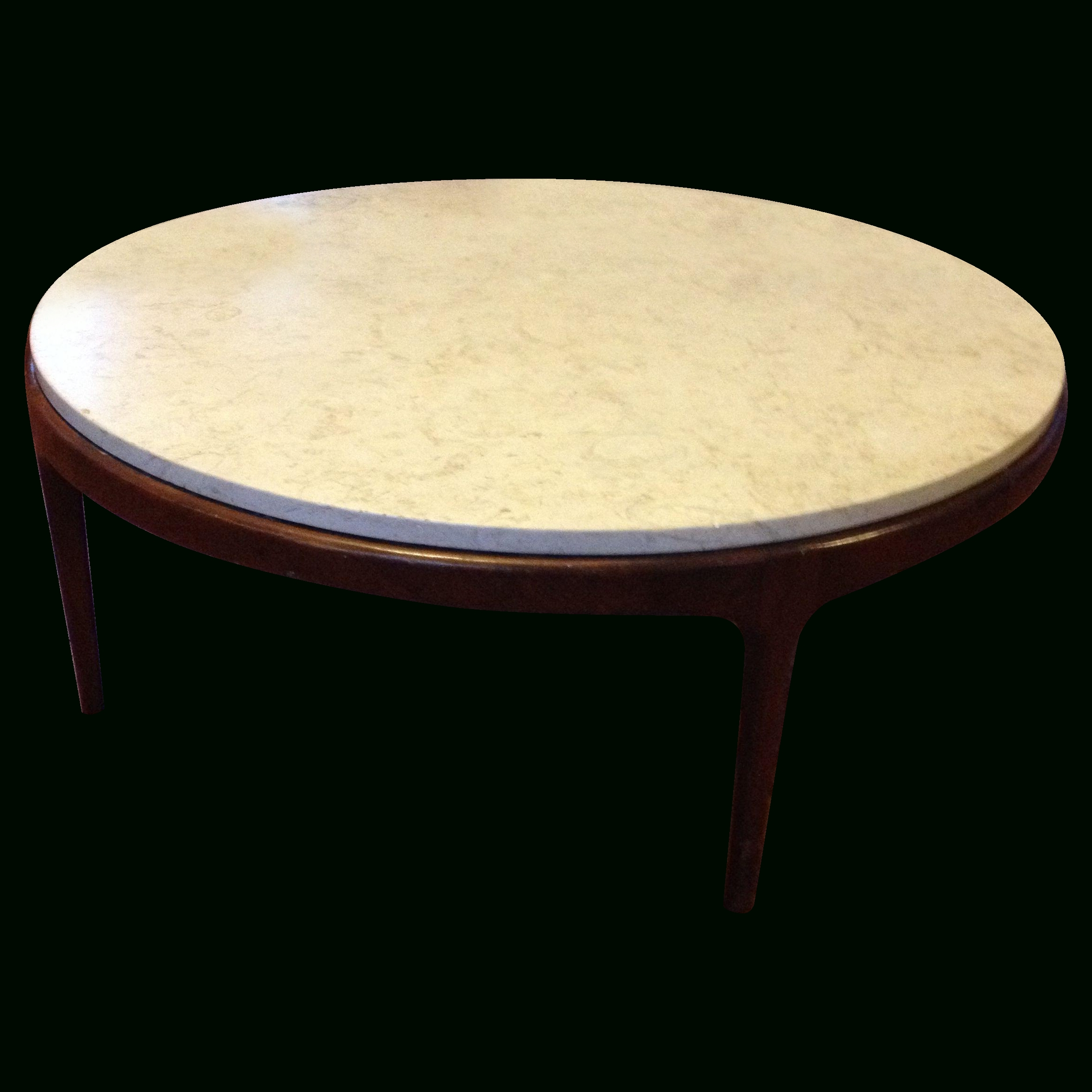 Mid-Century Modern Danish Marble Top Coffee Table On Chairish throughout Mid-Century Modern Marble Coffee Tables (Image 21 of 30)