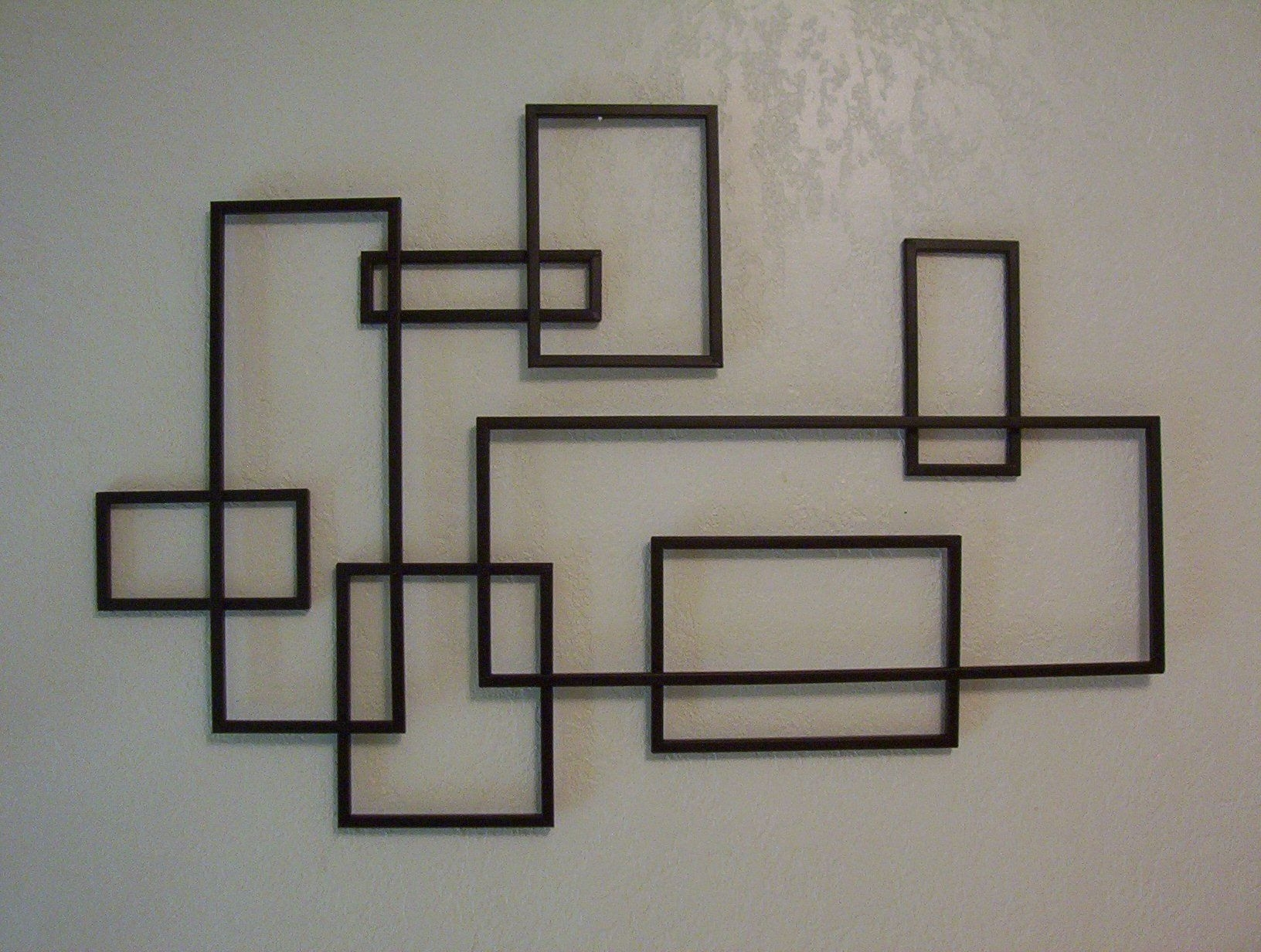 Mid Century Modern ~ De Stijl Style Geometric Metal Wall Sculpture within Mid Century Modern Wall Art (Image 17 of 20)