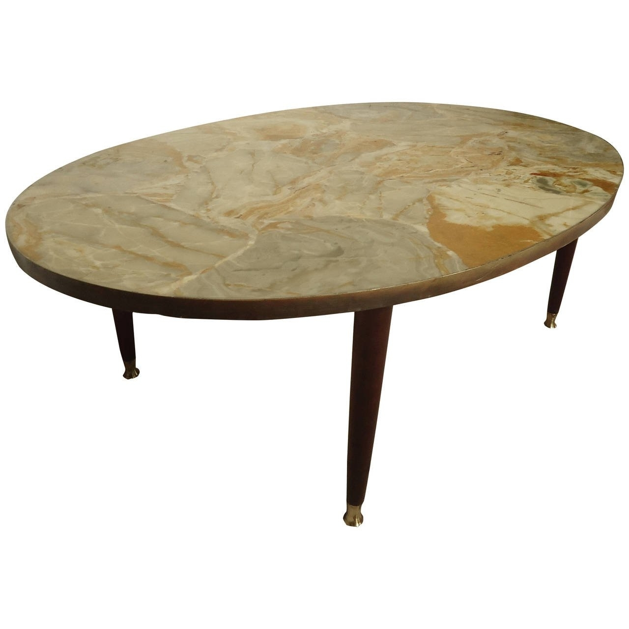 Mid-Century Modern Italian Marble-Top Coffee Table For Sale At 1Stdibs intended for Mid-Century Modern Marble Coffee Tables (Image 22 of 30)