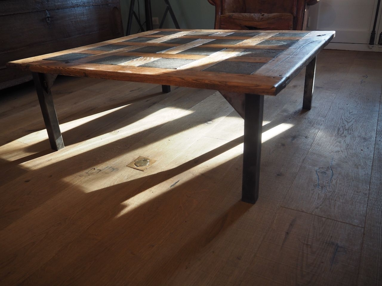 Mid Century Parquet Coffee Table, 1950s For Sale At Pamono Pertaining To Parquet Coffee Tables (View 24 of 30)