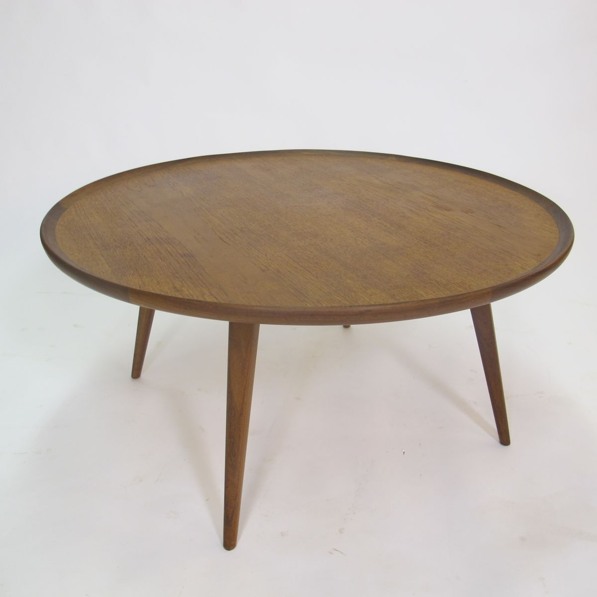 Mid-Century Round Teak Coffee Table, 1950S For Sale At Pamono within Round Teak Coffee Tables (Image 13 of 30)