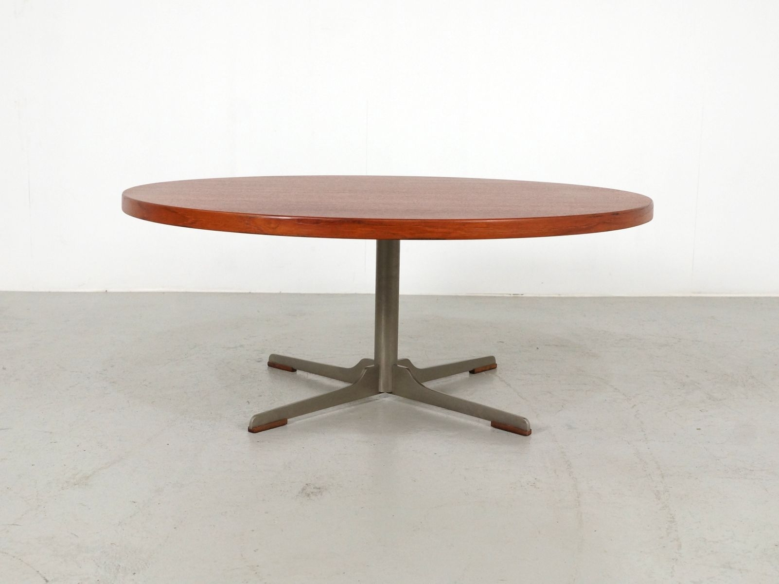 Mid-Century Round Teak Coffee Table, 1960S For Sale At Pamono throughout Round Teak Coffee Tables (Image 14 of 30)