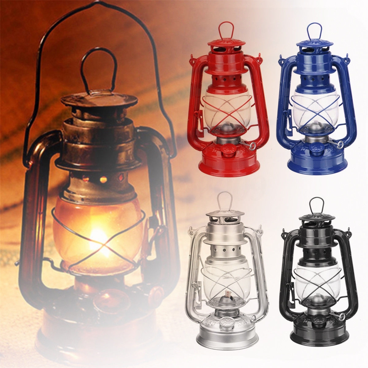 Military Oil Lamp Lantern Kerosene Paraffin Hurricane Lamp Light pertaining to Outdoor Kerosene Lanterns (Image 15 of 20)