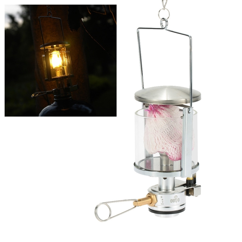 Mini Portable Camping Lantern Gas Light Tent Lamp Torch Hanging for Outdoor Gas Lanterns (Image 8 of 20)