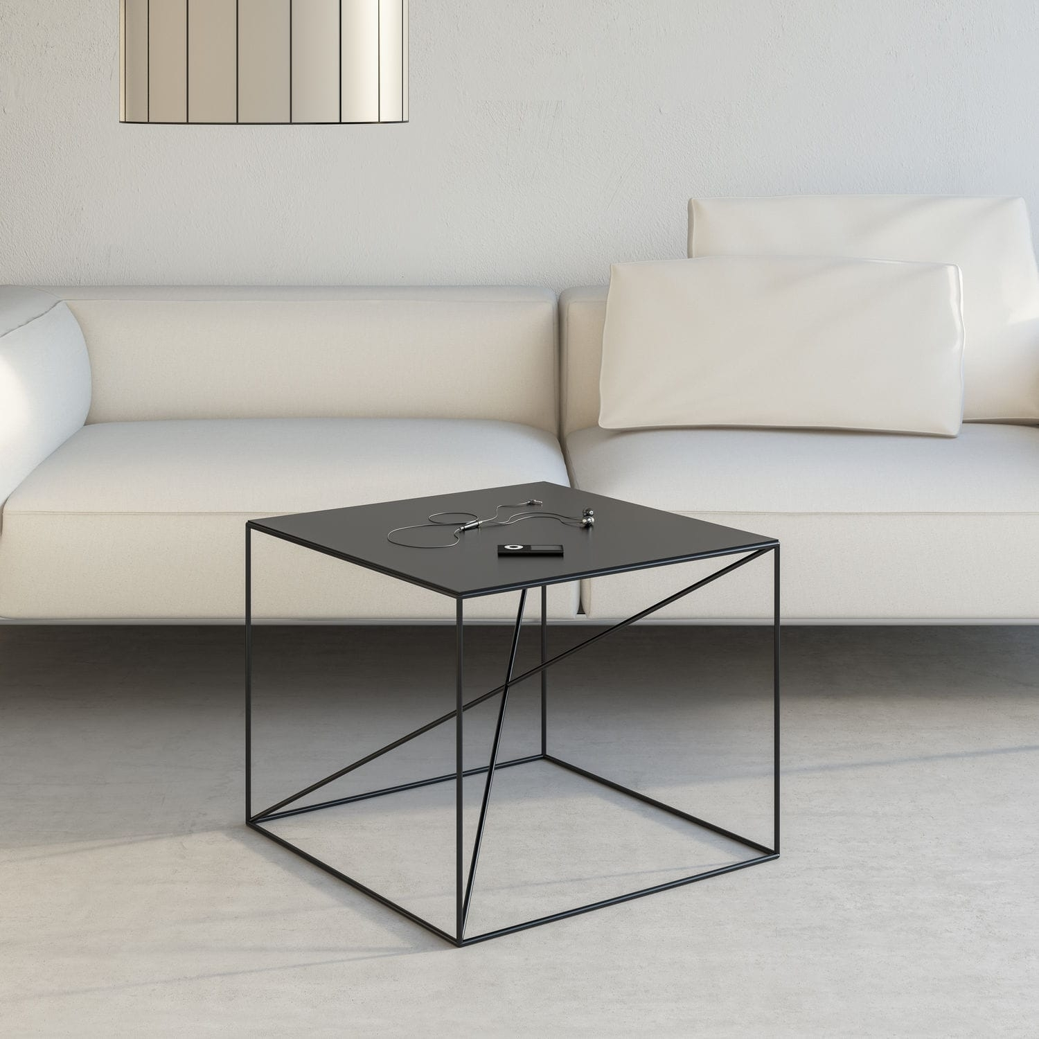 Minimalist Design Coffee Table / Powder-Coated Steel / Rectangular pertaining to Minimalist Coffee Tables (Image 20 of 30)