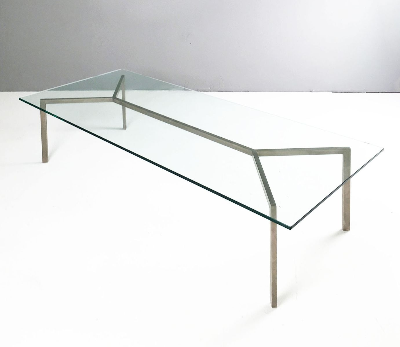 Minimalist Glass & Chrome Coffee Table, 1960S For Sale At Pamono with regard to Minimalist Coffee Tables (Image 21 of 30)