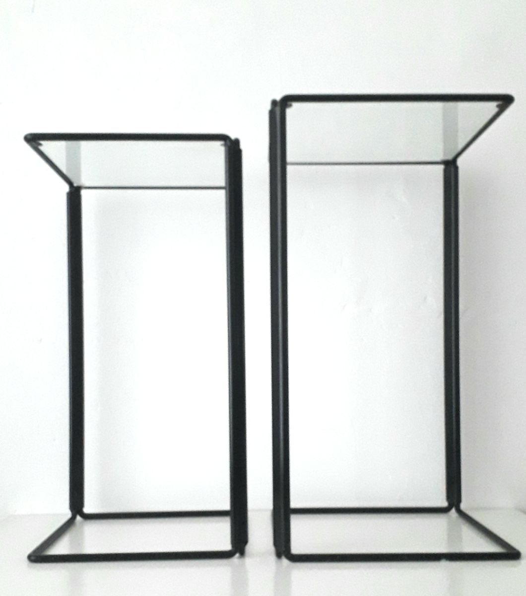 Minimalist Metal And Glass Nesting Side Tables For Sale At Pamono intended for Minimalist Coffee Tables (Image 22 of 30)