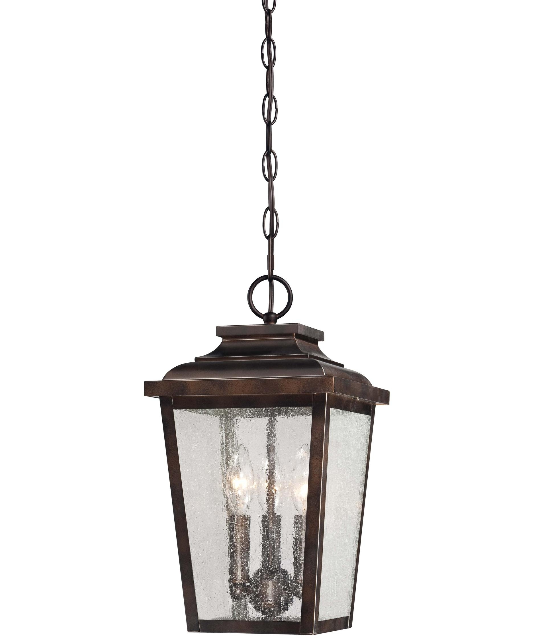 Minka Lavery 72174 Irvington Manor 9 Inch Wide 3 Light Outdoor intended for Outdoor Pendant Lanterns (Image 6 of 20)