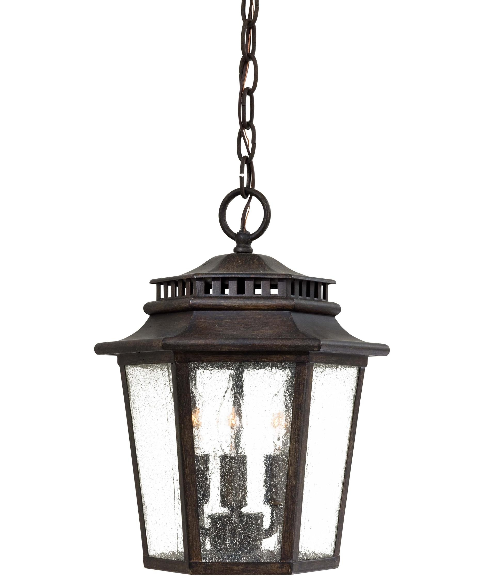 Minka Lavery 8274 Wickford Bay 11 Inch Wide 3 Light Outdoor Hanging Within Outdoor Lanterns With Battery Operated (View 14 of 20)