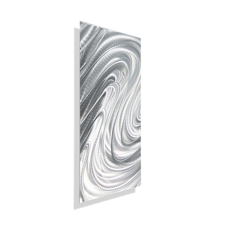 Mirage Solo - Silver Metal Wall Art - Single Panel Wall Décorjon pertaining to Silver Metal Wall Art (Image 9 of 20)