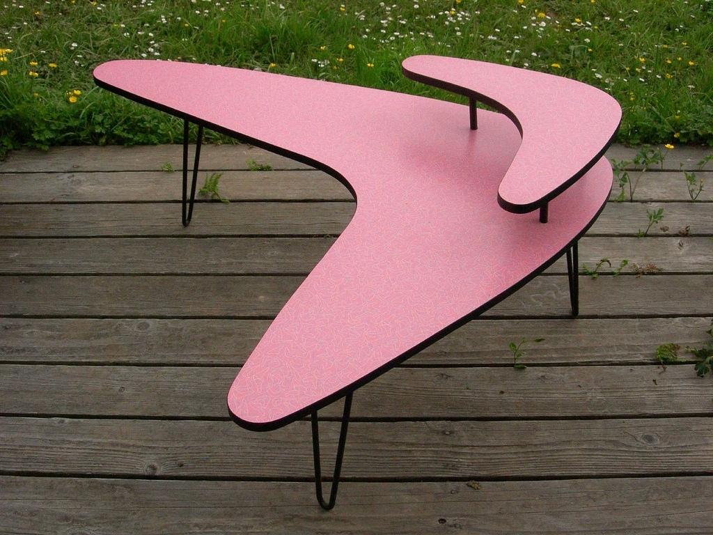 Mod Pink Boomerang Table | My Mid-Century Modern Style 2-Tie… | Flickr for Mid-Century Modern Egg Tables (Image 17 of 30)