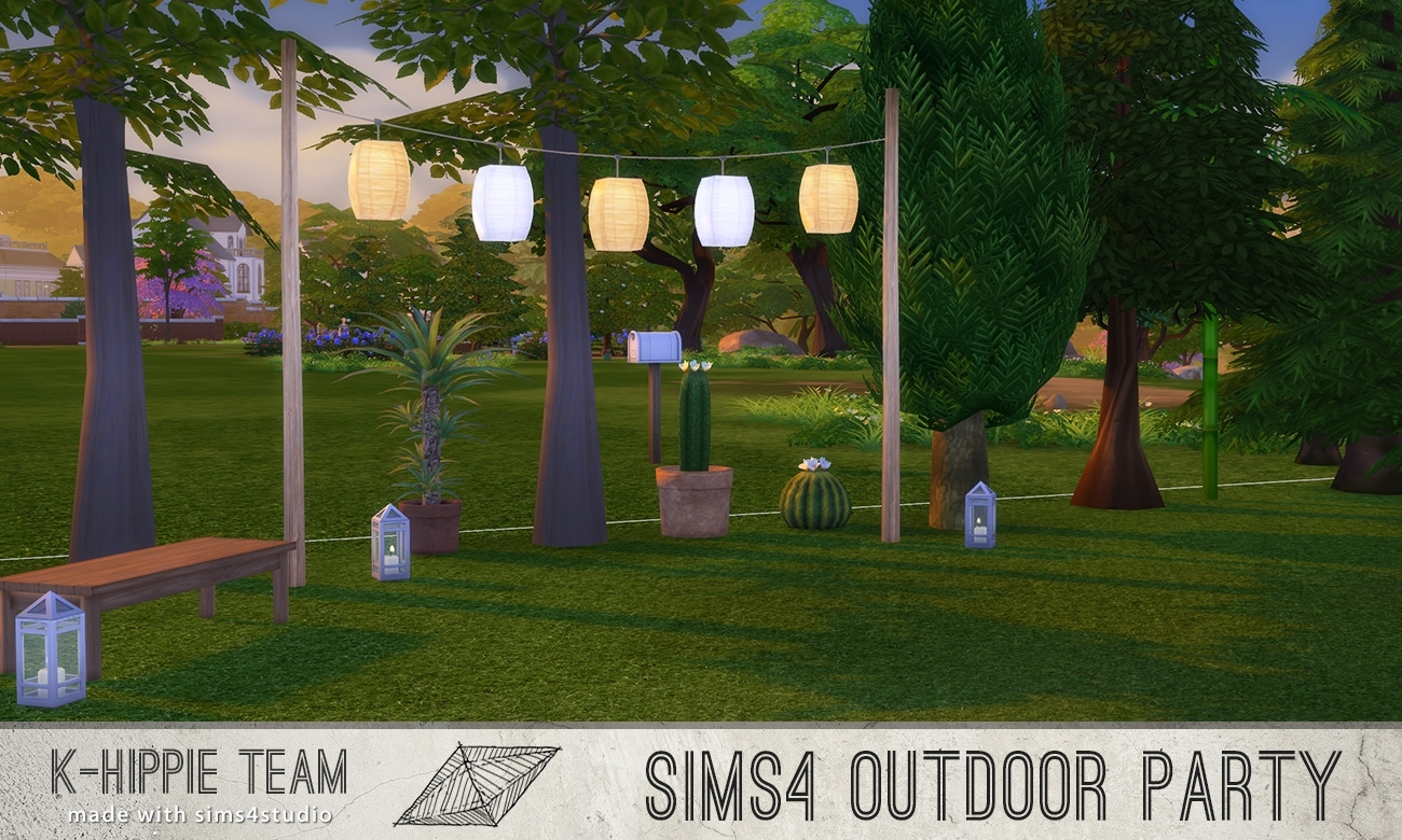 Mod The Sims - 5 Breezy Lanterns - Outdoor Party Serie - Volume 1 throughout Outdoor Lanterns for Parties (Image 10 of 20)
