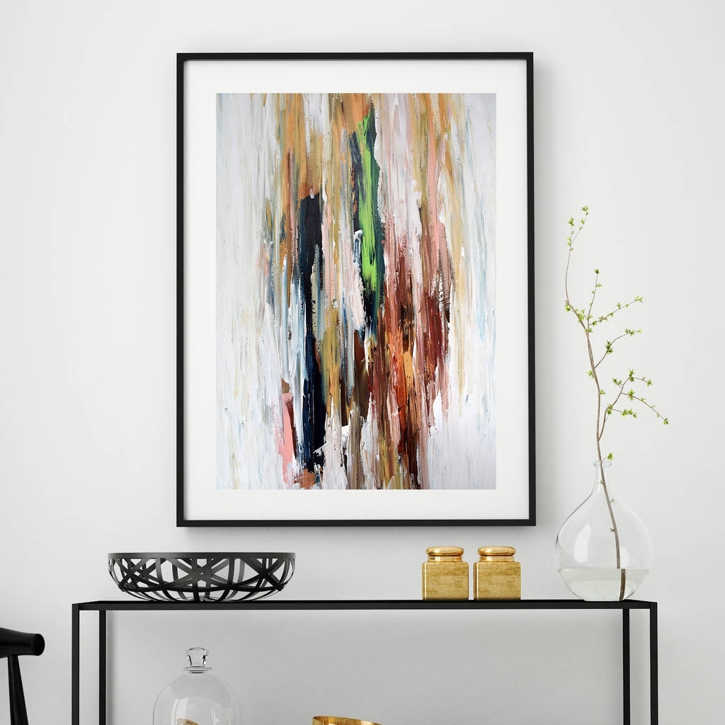 Modern Abstract Art Print Framed Pictures Red Autumnalomar Obaid Within Wall Art Prints (View 7 of 20)