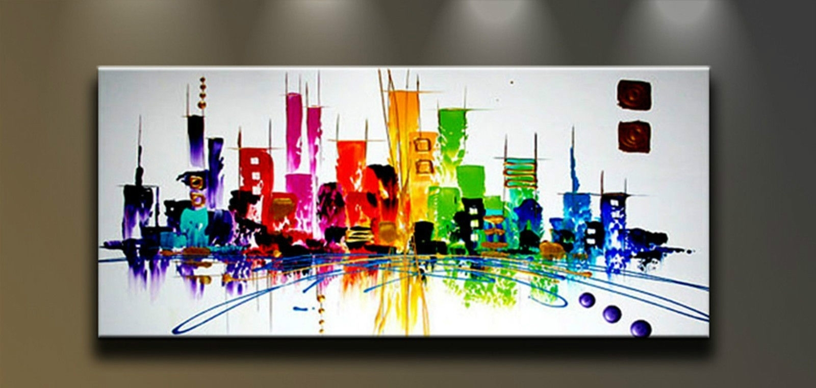 Modern Abstract Hand Painted Art Oil Painting Wall Decor Canvas For Abstract Canvas Wall Art (View 16 of 20)