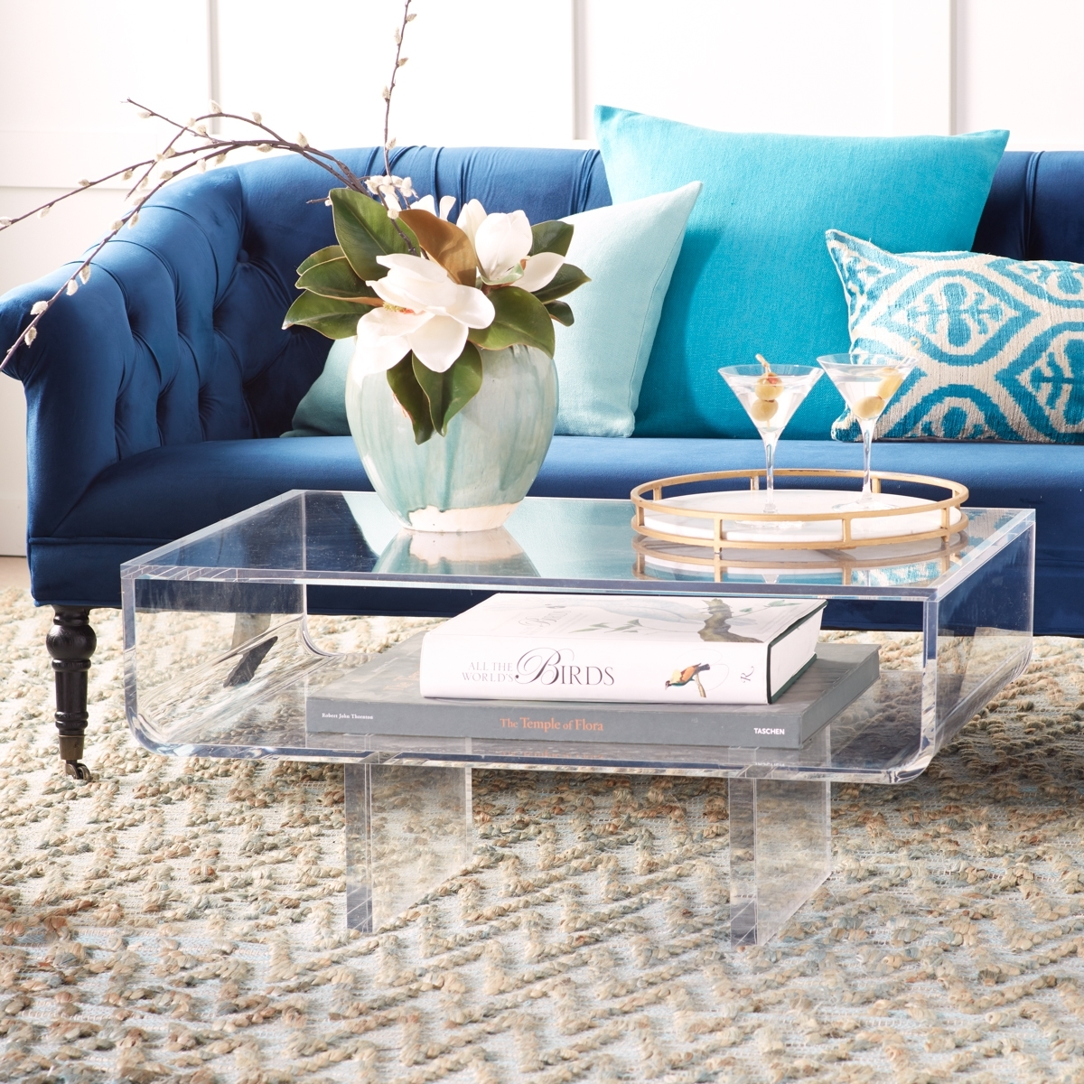 Modern Acrylic Coffee Table | Wisteria With Stately Acrylic Coffee Tables (View 21 of 30)