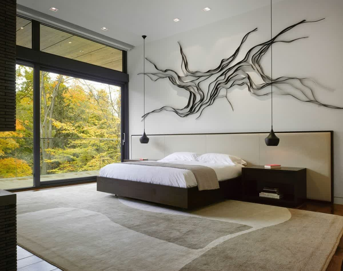 Modern Bedroom Wall Decor With Wall Art • Recous regarding Bedroom Wall Art (Image 16 of 20)