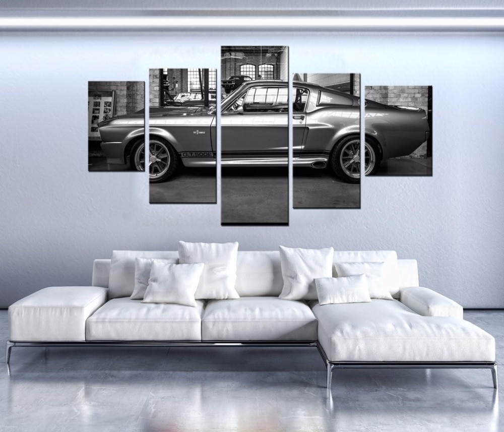 Modern Canvas Painting On The Wall Art Pictures 5 Panel Sports Car with Car Canvas Wall Art (Image 18 of 20)